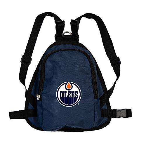 Littlearth NHL Edmonton Oilers NHL Edmonton Oilers Pet Mini Backpack - Pet Apparel - Pet Accessories - for Dogs and Cats, Team Color, MD