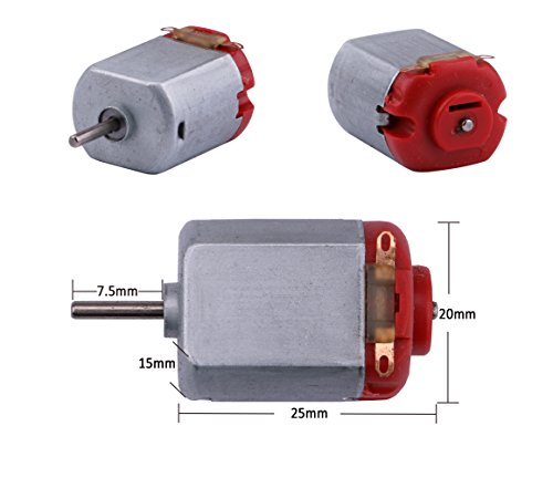 Yeeco 130 DC Motor Mini Electric Motor, 10 PCS 16500 RPM DC 3V High Speed Torque Electric Toy Cars Engine Motor Kit, Electric Machinery Motor for DIY Fan Toys Cars Models