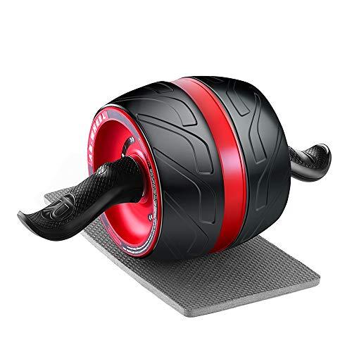 HECHUAN 腹筋ローラー 【最新進化版】アブホイール 自動リバウンド式 エクササイズウィル エクササイズローラー スリムトレーナー 超静音 アブローラー マット付き