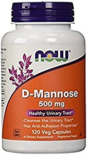 Now Foods D-mannose Healthy Urinary Tract 500 Mg 120 Veg Capsules (Pack of 1)
