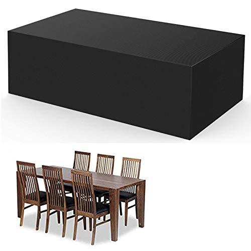 Cubierta de Muebles de Jardín, Fundas de Muebles Impermeable Resistente al Polvo Anti-UV Protección Exterior Muebles de Jardín Cubiertas de Mesa y Silla-Negro 115x115x70cm