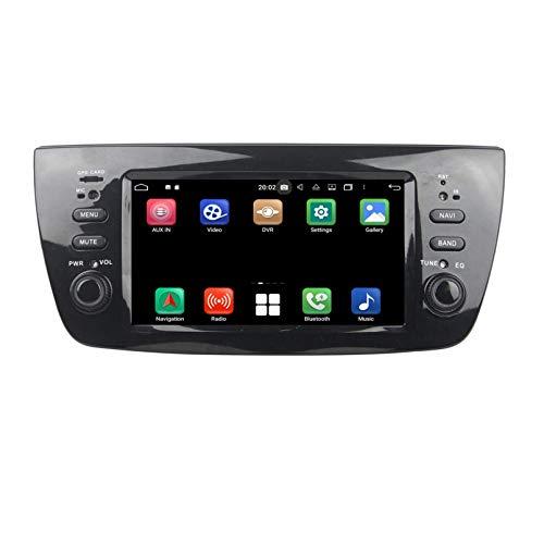 6.1 Pollici Touchscreen Android 10.0 Autoradio per Fiat Doblo(2010-2015), Navigazione GPS DAB+ Radio Bluetooth