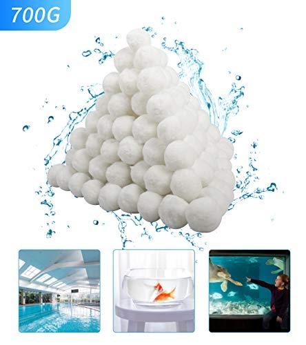 YAJIAN Pool Filterbälle 700g für Leistung von 25kg+ Filtersand .Für Salzwasser geeignet,Filterbälle für Pool, Schwimmbad, Filterpumpe, Aquarium Sandfilter