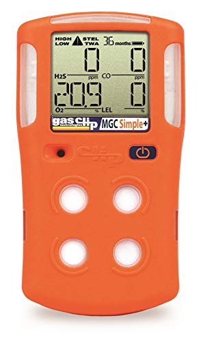 GasClip Simple, Multi-Gas Portable Gas Detector, 3-year Disposable (O2,LEL,H2S,CO) SKU: MGC-S-PLUS