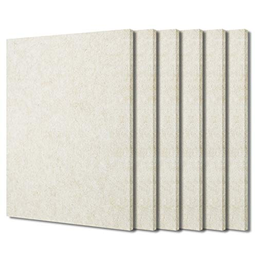 BXI Sound Absorber - 400 X 300 X 9mm 6 Pack High Density Acoustic Absorption Panel, Sound Absorbing...