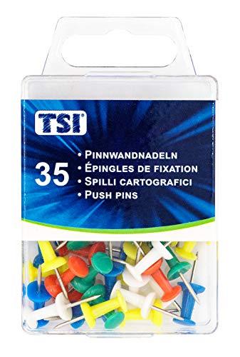 TSI puntine, confezione da 35pezzi, colori assortiti
