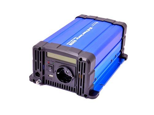 solartronics Spannungswandler FS600D 12V 600 Watt Reiner Sinus BLAU m. Display Inverter Wechselrichter