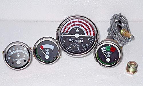 IH B250,B275,B414,276,354,434,444 Kit tachymètre + température + pression d'huile + ampère