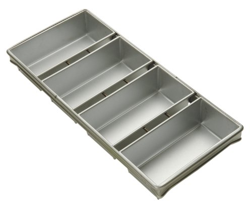 Focus Foodservice Commercial Bakeware 4 Strap 10 by 5-Inch Bread Pan Set