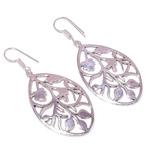 Pendientes de plata chapados en plata, hechos a mano, el mejor regalo para mujeres y niñas