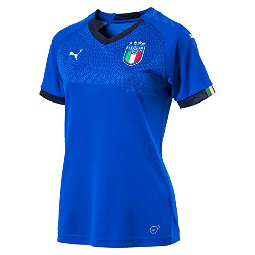 PUMA Damen FIGC Italia Women Home Shirt Replica SS, Team Power Blue-Peacoat, XL