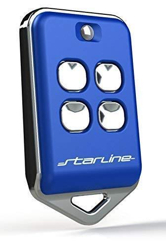 Télécommande Universelle Twin au4t 433 MHz (433.92) Code Fixe 4 Touches, Made in Italy avec Piles très Longue durée, Compact, Fonctionne déjà à 200 mètres. Blanc ou Noir Fabriqué en Italie Bleu