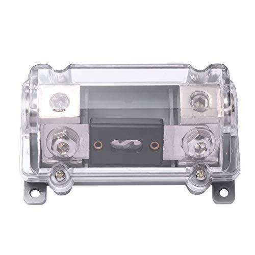 Garneck Auto Luidspreker ANL zekeringhouder 100A Clear Cover Auto Audio Inline Circuit Breaker 1 Way in 1 Way Out Modificatie Accessoire voor Alarm Amplifier (zwart)