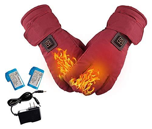 Guantes climatizados eléctricos para hombres / mujeres, calefacción eléctrica Guantes térmicos, guantes de calefacción con 3 ajustes de calefacción y baterías de litio recargables de 2600 mA para cicl