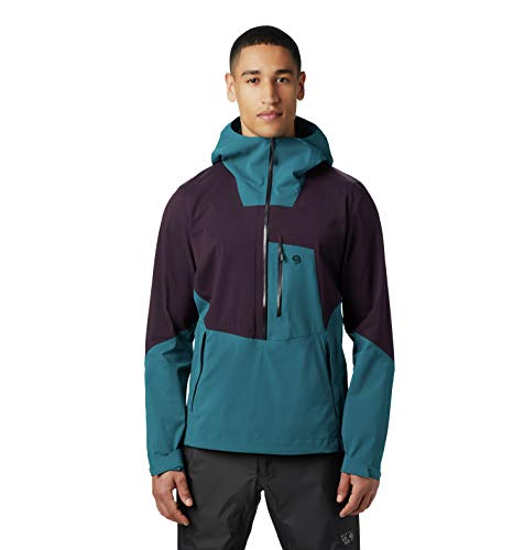 Mountain Hardwear Men's Exposure/2 Gore-TEX Paclite Stretch Pullover, Dive - S