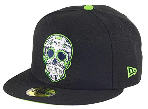New Era Seattle Seahawks NFL Sugar Skull 59Fifty Basecap - 7 3/8-59cm (L)