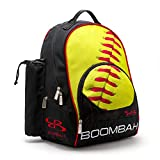 Boombah Tyro Baseball/Softball Bat Backpack - 20' x 15' x 10' - Ink Softball Black/Optic Yellow/Red