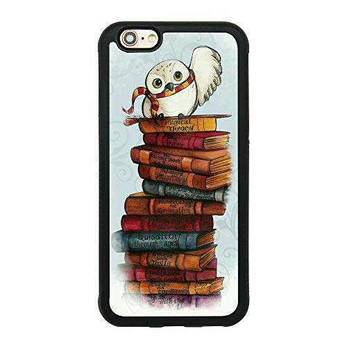 Owl Hedwig Harry Potter Theme Case for iPhone 6/6S (4.7 Inch) TPU Silicone Gel Edge + PC Bumper Case Skin Protective Custom Designed Printed Phone Protector Full Protection Cover