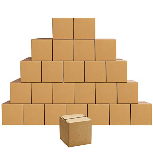 PETAFLOP Versandkartons 15,3 x 15,3 x 15,3 cm, Wellpappkartons, 25 Stück