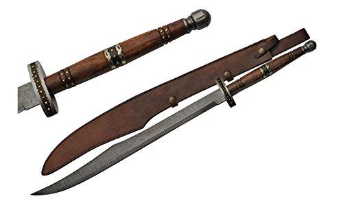 SZCO Supplies 36.5' Scimitar Rosewood Damascus Sword