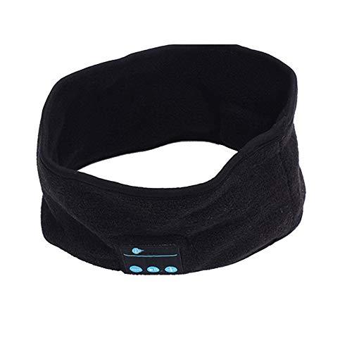 CDKJ de música inalámbrico Bluetooth Headset Deportes Las Vendas Dormir Auriculares Casco Altavoz inalámbrico Integrado para la Correa de Deportes al Aire Libre Correr - Negro