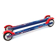 With straight aluminum shafts, KV+ Jet skate roller skis are a budget-friendly alternative to KV+ Launch skis. They are perfect for summer training! Length from axis to axis: 23.6″ (60 cm) Wheels diameter: 4″ (100 mm) Wheels width: 0.95″ (24 mm) Weig...