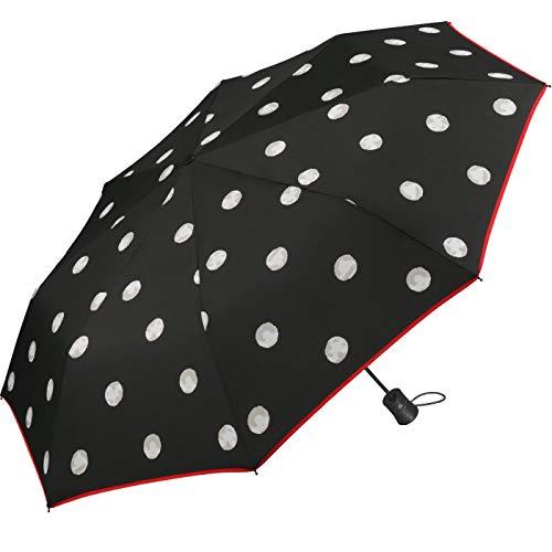 Regenschirm Black & White Dots - Taschenschirm Auf-Automatik