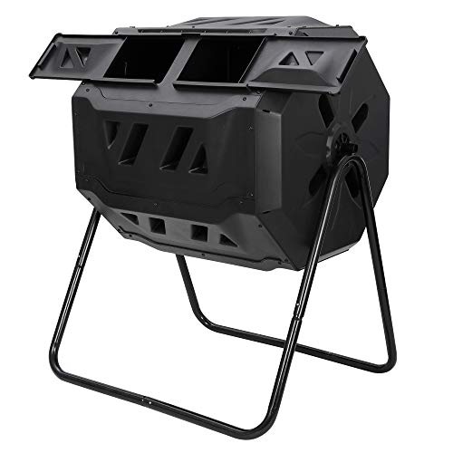 Fantastic Deal! Oteymart Large Compost Bin Tumbler, 43 Gallon Capacity Composting Tumbler with Twin ...