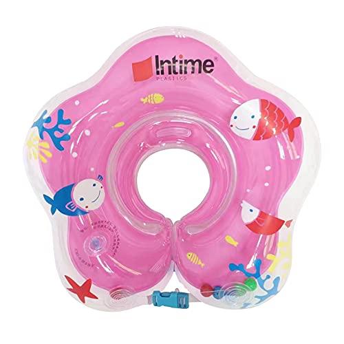 DEEPOW Babypool-Schwimmer, Baby-Schwimm-Hals-Ring, aufblasbare Kinder Babypool-Schwimmer, Schwimmhilfe Hals Schwimmring, Baby Schwimmring Neugeborenes Kleinkind Kind Halsring (Rosa)