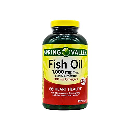 Spring Valley - Fish Oil 1000 mg, 300 Softgels
