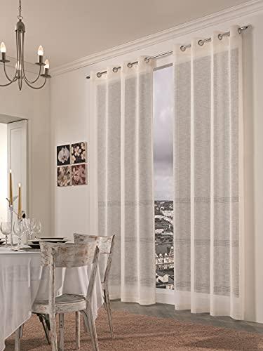 Marlene - Cortina de decoración con Anillas, 140 x 280 cm