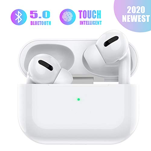 Auriculares inalámbricos Bluetooth 5.0 Auriculares inalámbrico reducción del Ruido estéreo 3D HD In-Ear Auriculares Bluetooth IPX7 Impermeables para Apple AirPods Pro/iPhone/Huawei/Android