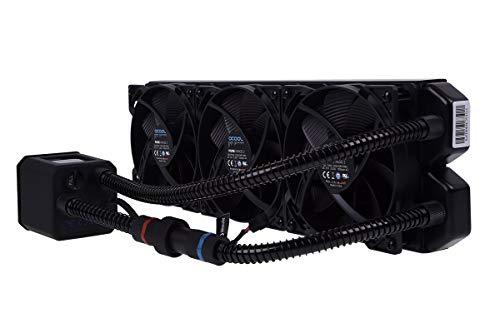 Alphacool 11286 Eisbaer 360 CPU - Black - All in One CPU-Wasserkühlung Sets und Systeme, 3x120mm Lüfter, Individuell über Schnellverschluss erweiterbar