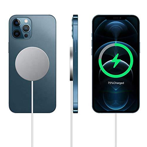 Adecuado para el cargador inalámbrico magnético iPhone 12 Pro Max Mini 15W, adecuado para el cargador inalámbrico iPhone 11 Qi, adecuado para el teléfono móvil Huawei Xiaomi