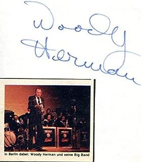 woody herman autograph