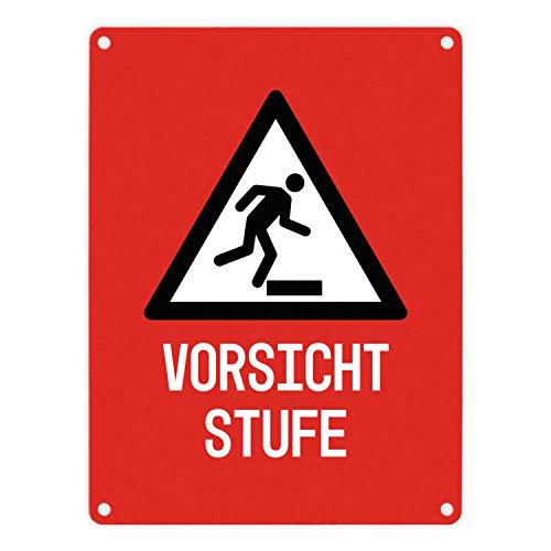 CUCIN Vorsicht niveau waarschuwings- en aanwijzingsbord in rood met pictogram 18X25cm