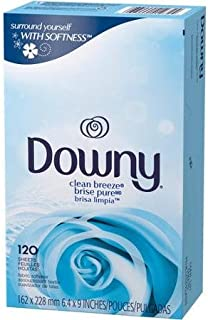120 Downy Clean Breeze Tumble Dryer Fabric softener Sheets