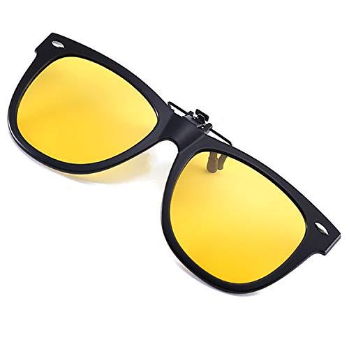 Polarized Clip on Night Driving Glasses Anti-Glare Night Vision Glasses Clip-on Prescription Glasses Nighttime Clip-on Glasses