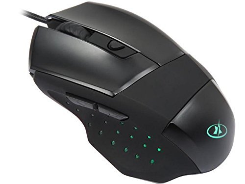 ROSEWILL LED Lighting Wired USB Gaming Mouse, Gaming Mice for Computer/PC/Laptop/Mac Book with 4000 DPI Optical Gaming Sensor and Ergonomic Design with 6 Buttons for Big Hand User(ION D10)