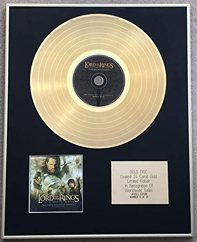 Century Music Awards - Lord of The Rings - Ltd Edition CD 24 Carat Gold Coated Disc - The Return of the King (Original Soundtrack)