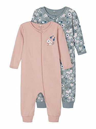 NAME IT Girl Schlafanzug 2er-Pack Reißverschluss 92Pale Mauve