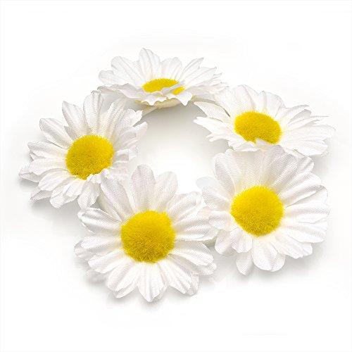Daisy Blume Girlande Haargummi Dutt Ring Elastic Hair Band (weiß).