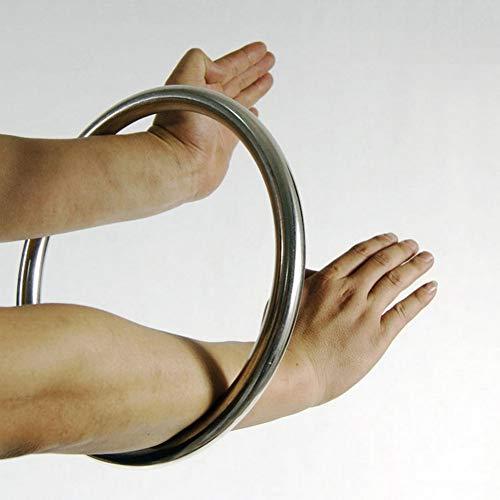 Anello in acciaio inox per Wing Chun, Yewen Sau, per rafforzare le mani, Tsun siu Lum, Kung Fu, Stell Ring