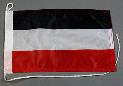 Buddel-Bini Bootsflagge Deutschland Kaiserreich 20 x 30 cm in Profiqualität Flagge Motorradflagge