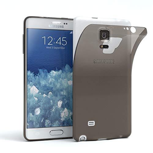EAZY CASE Hülle kompatibel mit Samsung Galaxy Note Edge Schutzhülle Silikon, Ultra dünn, Slimcover, Handyhülle, Silikonhülle, Backcover, Durchsichtig, Klar Anthrazit