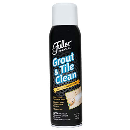 Fuller Brush Grout & Tile Clean - Easy Brush & Heavy Duty Cleaning Spray - Cleans Mold & Dirt Build Up In Shower, Tub & Tiled Bathroom/Kitchen Floor, Sink & Wall
