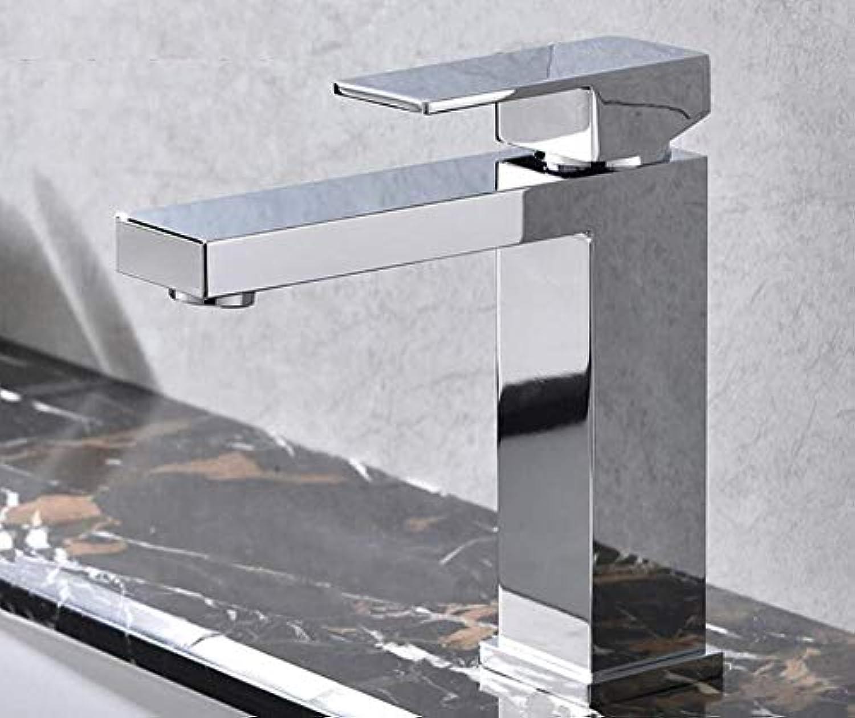 Wasserhahn Küchenarmatur Brushed Golden & Matt schwarz Square Bathroom Hot And Cold Faucet 100% Soild Brass High Quality Single Hole Basin Water Mixer Tap