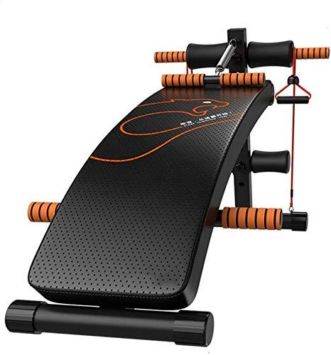 LDM Sit-Up Board Professionelle Sit-Ups Fitnessgeräte Home Abdominal Board Sporthilfen Fitnessstudio Multifunktions-Rückenbrett Komfortabel atmungsaktiv Faltbar