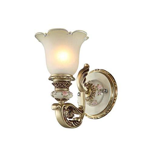 Feestelijke wandlampen en wandlampen wandlamp sculptuur metaal en hars modern met glazen scherm, bedlampje Aisle Balcony, E27