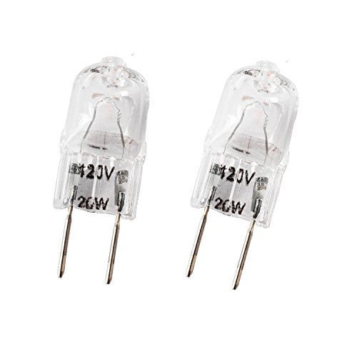Wadoy WB36X10213 Microwave Light Bulbs G8 120V 20W Bulb Replacement for Halogen GE Oven Parts WB25X10019 WB08X10050 WB36X10246 (2 Packs)